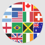 Sixteen Flags of Many Nations T-shirts, Mugs, More Round Stickers