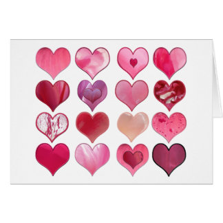 Sixteen Hearts Valentine Card
