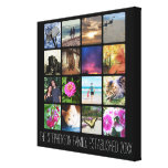 Sixteen Rounded Corners Photo Collage or Instagram Canvas Print