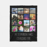 Sixteen Rounded Corners Photo Collage or Instagram Fleece Blanket
