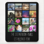 Sixteen Rounded Corners Photo Collage or Instagram Mouse Pad