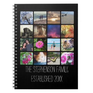 Sixteen Rounded Corners Photo Collage or Instagram Notebook