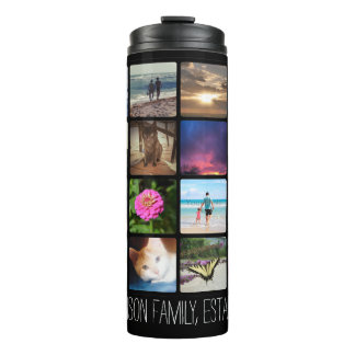 Sixteen Rounded Corners Photo Collage or Instagram Thermal Tumbler