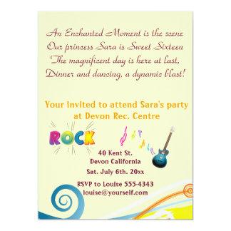 Sixteenth Birthday invitation. Card