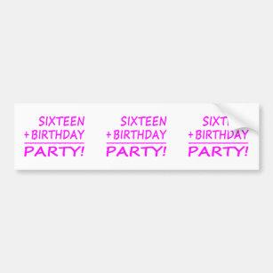 sixteenth birthday bumper stickers car stickers zazzle