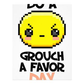 Sixteenth February - Do a Grouch a Favor Day Letterhead