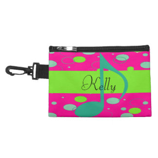 Sixteenth Note Music Symbol Accessory Bag