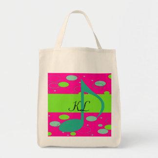 Sixteenth Note Music Symbol Tote Bag