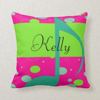 Sixteenth Note Musical Symbol Throw Pillow