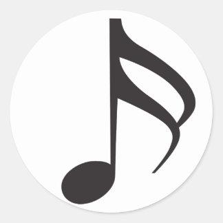 Sixteenth_Note Classic Round Sticker