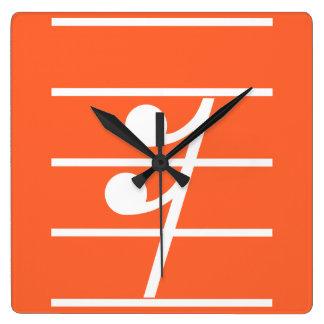 sixteenth rest2 square wall clock