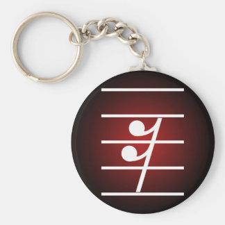 sixteenth rest 2 basic round button keychain