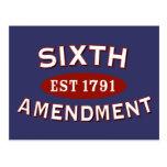 Sixth Amendment Est 1791 Postcards