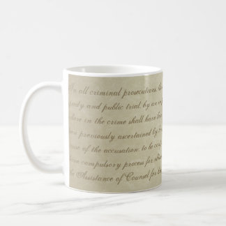 Sixth Amendment mug
