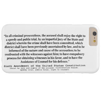 Sixth Amendment to the United States Constitution Barely There iPhone 6 Plus Case