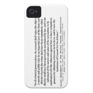 Sixth Amendment to the United States Constitution Case-Mate iPhone 4 Case