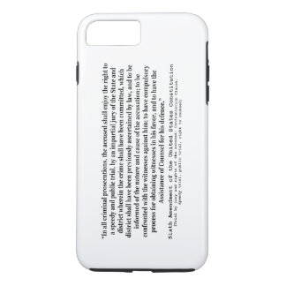 Sixth Amendment to the United States Constitution iPhone 7 Plus Case