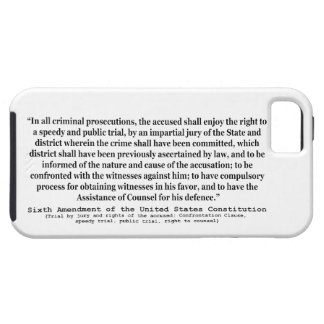 Sixth Amendment to the United States Constitution iPhone SE/5/5s Case