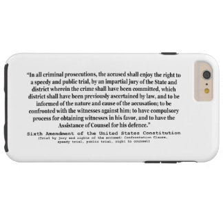 Sixth Amendment to the United States Constitution Tough iPhone 6 Plus Case