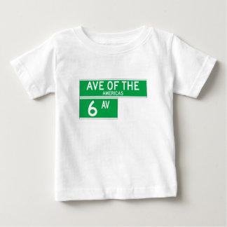 Sixth Av., New York Street Sign Baby T-Shirt