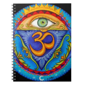 Sixth chakra, Third eye Spiral Notebook