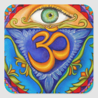Sixth chakra, Third eye Square Sticker