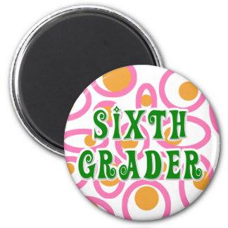 Sixth Grader 2 Inch Round Magnet