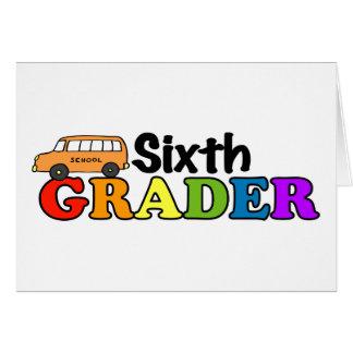 Sixth Grader Greeting Card
