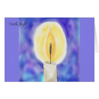 Sixth Night Hanukkah Card