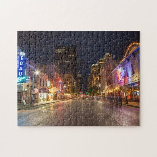 Austin At Dusk: Texas Map Jigsaw Puzzle