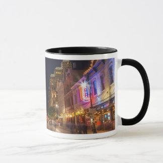 Sixth Street At Dusk In Downtown Austin, Texas Mug