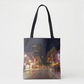 Sixth Street At Dusk In Downtown Austin, Texas Tote Bag