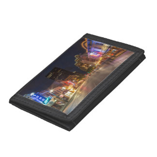 Sixth Street At Dusk In Downtown Austin, Texas Trifold Wallets