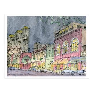 Sixth Street looking West, Austin, Texas Postcard
