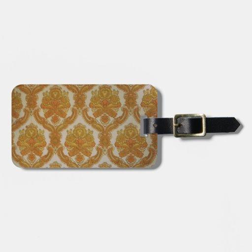 Sixtie wallpaper etiqueta de maleta
