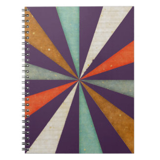 Sixties 5 Colors Swirl On Acai Violet Background Note Books