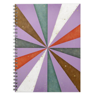 Sixties 5 Colors Swirl On African Violet Pattern Notebook