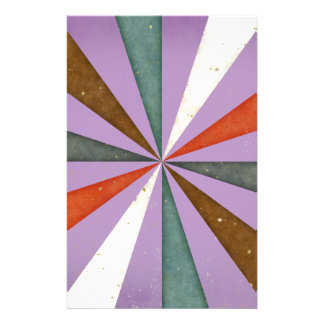Sixties 5 Colors Swirl On African Violet Pattern Custom Stationery