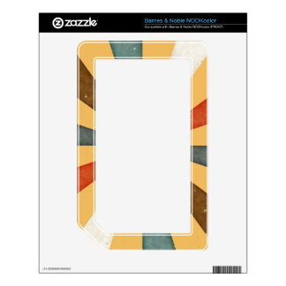 Sixties 5 Colors Swirl On Beeswax Orange Yellow Decals For The NOOK Color