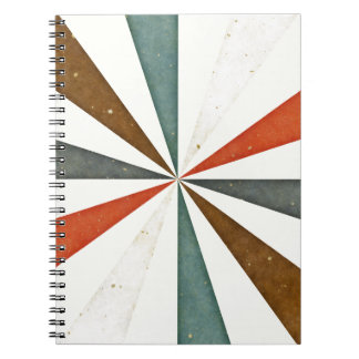 Sixties 5 Colors Swirl On Beige Cream Background Note Books