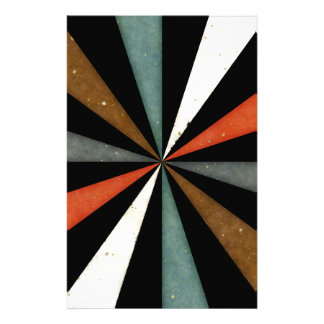 Sixties 5 Colors Swirl On Black Background Stationery Paper