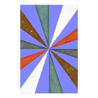 Sixties 5 Colors Swirl On Blue Violet Orchid Stationery Paper