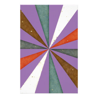 Sixties 5 Colors Swirl On Chic Bellflower Violet Custom Stationery