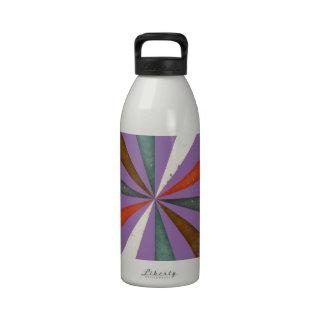 Sixties 5 Colors Swirl On Chic Bellflower Violet Water Bottle