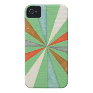 Sixties 5 Colors Swirl On Grass Green Background iPhone 4 Cases