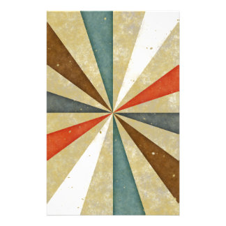 Sixties 5 Colors Swirl. Vintage Pattern Stationery Paper