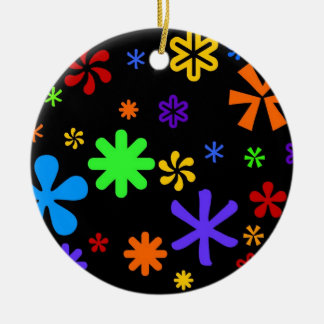 Sixties Bright Ceramic Ornament