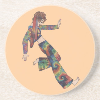 Sixties Collage Girl Coaster
