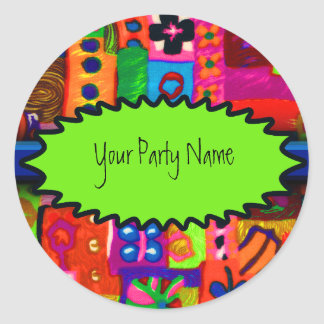 Sixties Collage Party Sticker