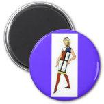 Sixties Colorblock Dress Magnet